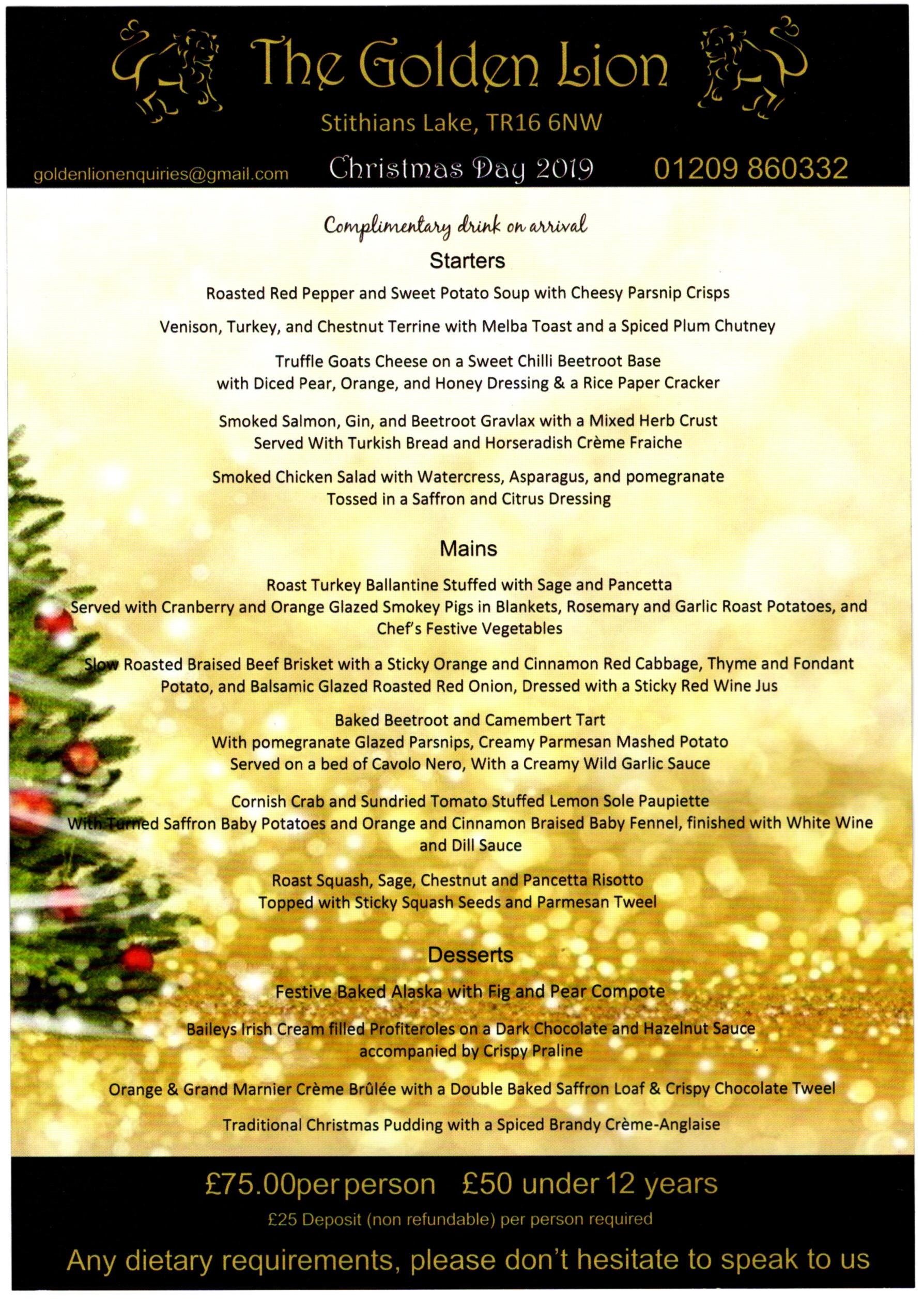 Christmas Day 2019.Christmas Day 2019 The Golden Lion Lakeside Redruth